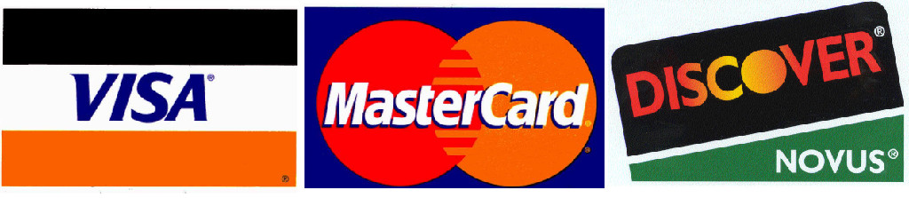 all credit cards accepted logo. All major credit cards